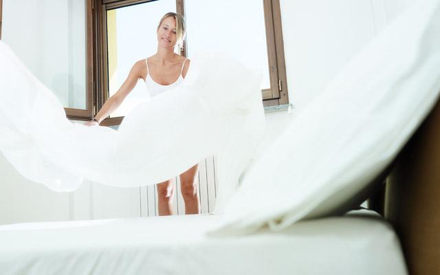 Menjavanje posteljnine