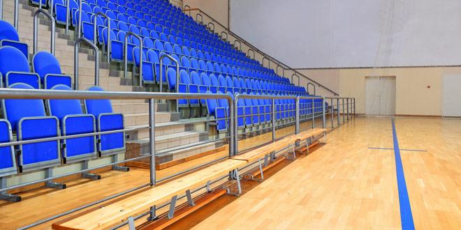 Kovinska oprema za športno dvorano