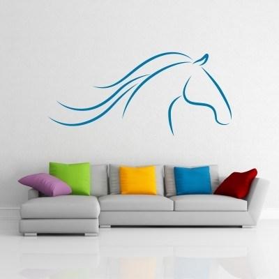 Stenska nalepka - Glava konja